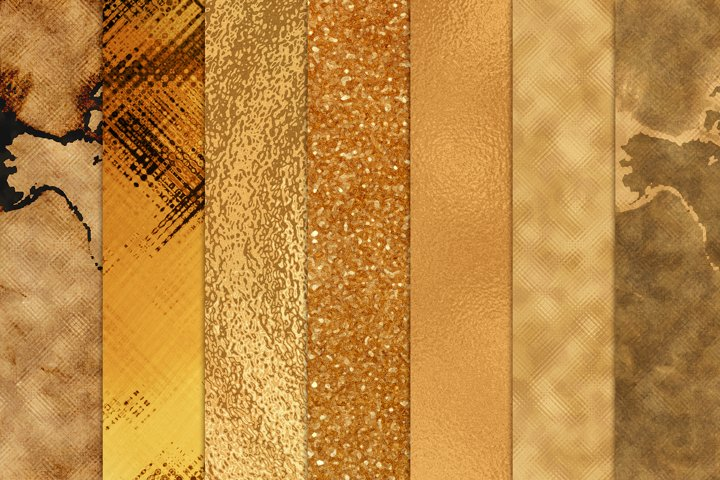 Abstract Gold Backgrounds and Textures