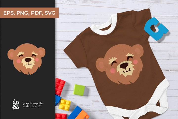 Cute animals character SVG - Bear