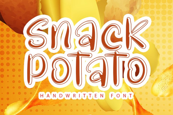 Snack Potato - Modern Handwritten Font