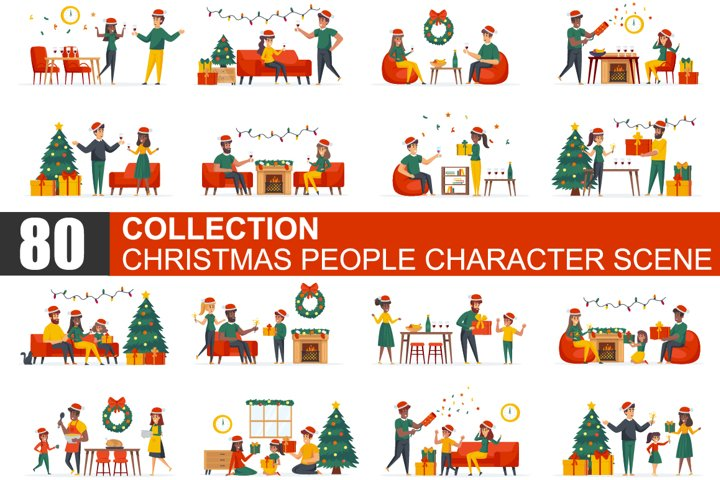 Christmas People Scene Creator Kit