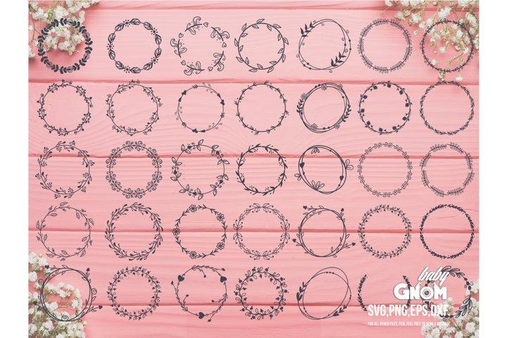 36 Laurel Wreath svg BUNDLE, Monogram Wreath avg, Laurel svg