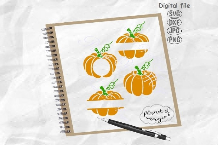 Pumpkin Monogram Svg, Halloween Svg, Pumpkin Svg, Fall Svg