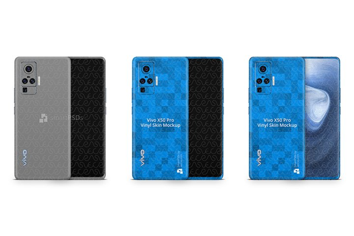 Vivo X50 Pro 2020 PSD Skin Mockup Template