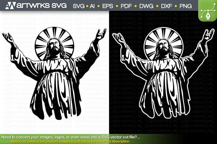 Jesus SVG laser cut files Religious SVG by Artworks SVG