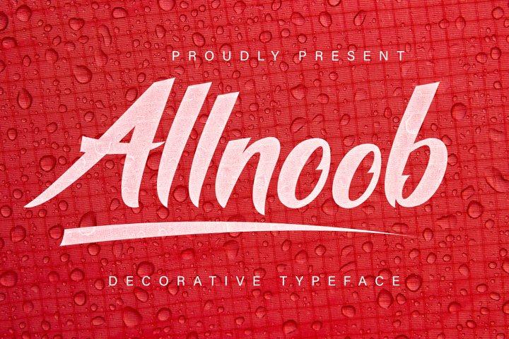 Allnoob Typeface