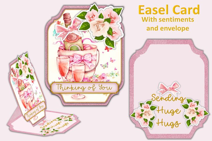 Easel Card Kit with all Clipart JPEG and PNG