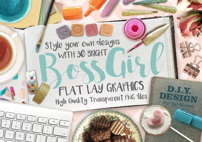 BossGirl Flatlay PNG Photo Pack