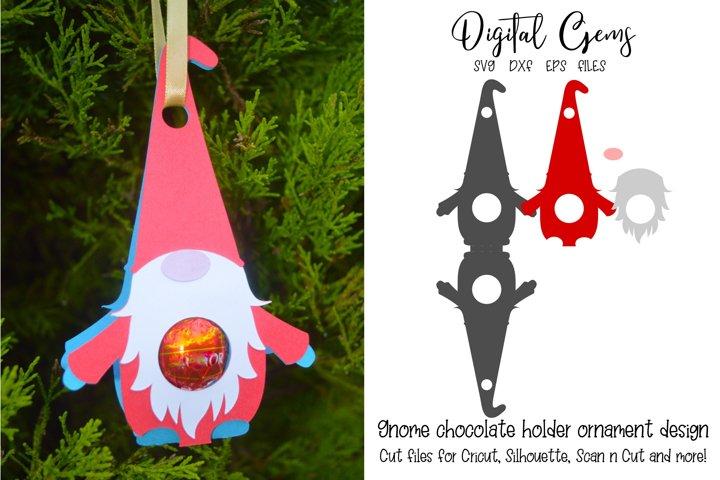 Gnome chocolate holder ornament / bauble design. SVG file.