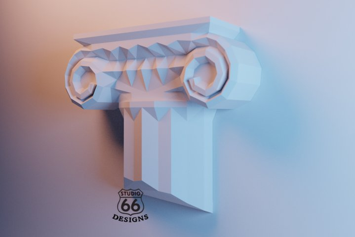 Greek Column Papercraft, Interior Greek Column