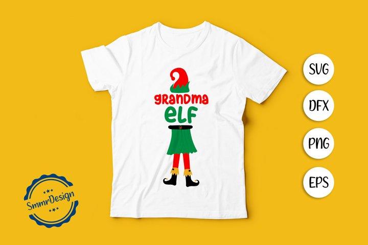 Grandmama ELF SVG Cut file.