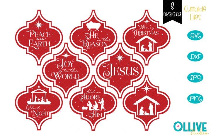 Arabesque Christmas Ornament SVG Bundle