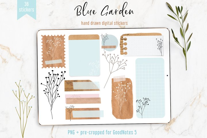 Digital Planner Stickers Kraft Style