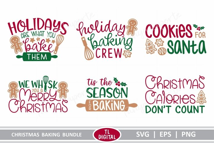 Christmas Baking Bundle - SVG | EPS | PNG
