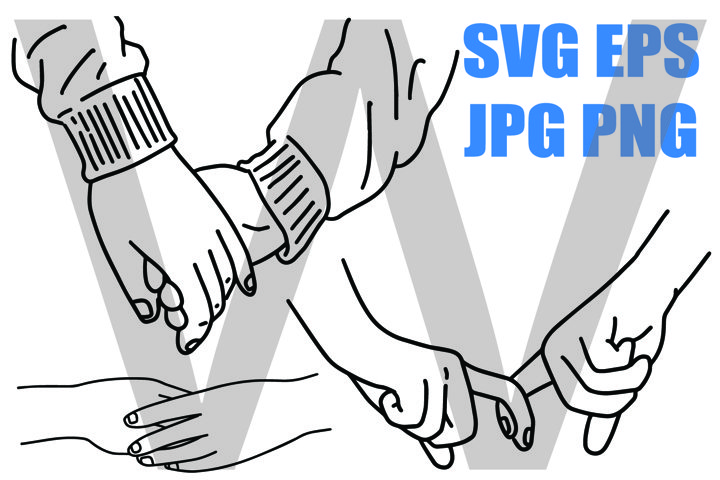 Holding Hands of Love - PNG SVG EPS PNG