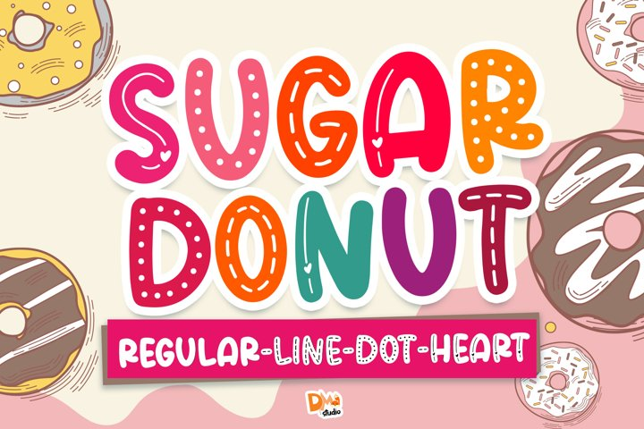 Sugar Donut Crafty Deluxe Package Font!