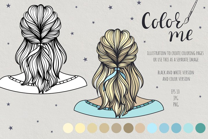 Color me. Womens hairstyle #6