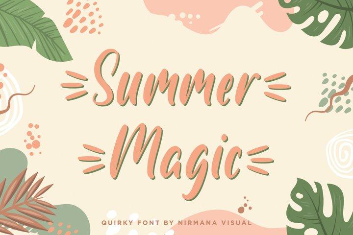 Summer Magic - a quirky font