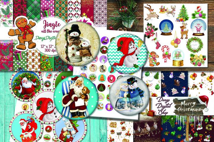 Bundle CHRISTMAS, Christmas clip art, Christmas Scrapbooking