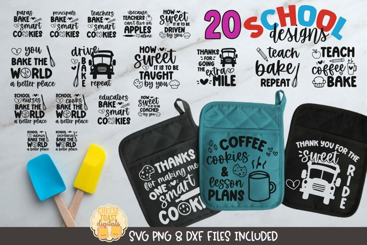 Teacher SVG | School Pot Holder SVG Bundle