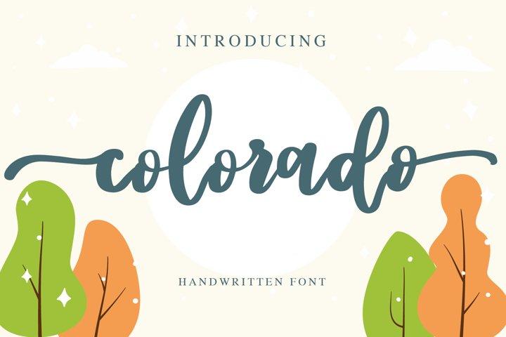 colorado - handwritten font