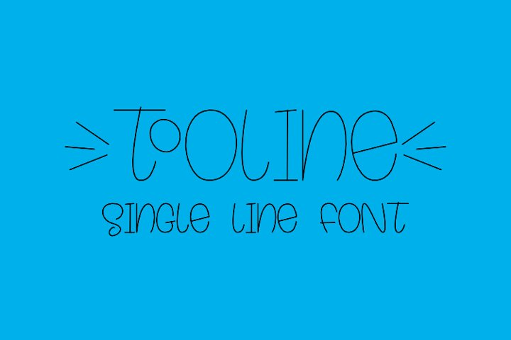 Tooline - Single Line - Hair Line Font