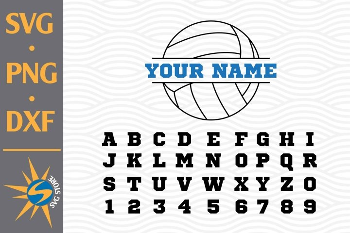 Split Volleyball SVG, PNG, DXF Digital Files Include