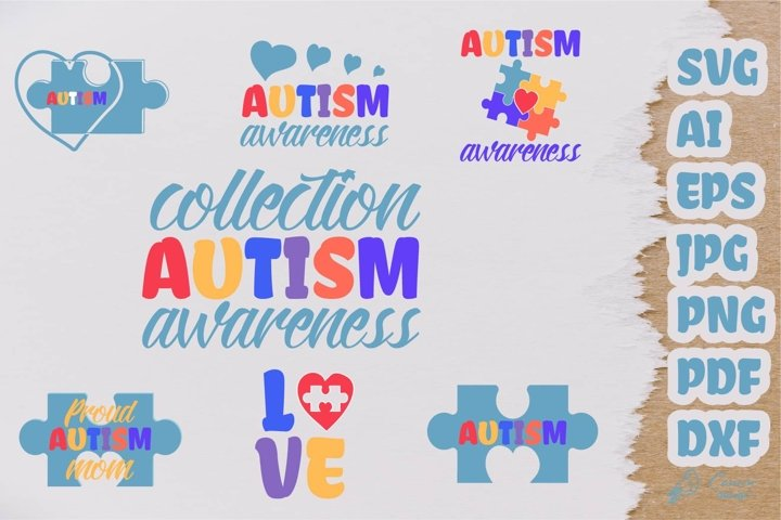 Collection Autism Awareness design kit