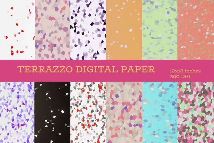 Terrazzo digital papers