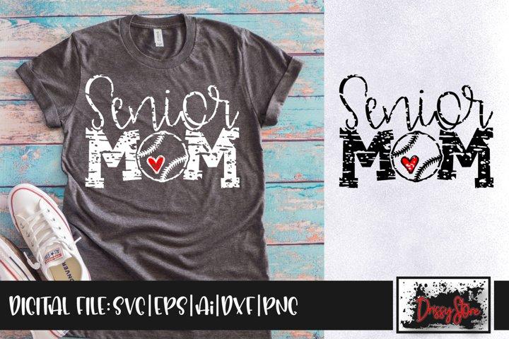 Senior Mom Grunge SVG DXF Ai EPS PNG