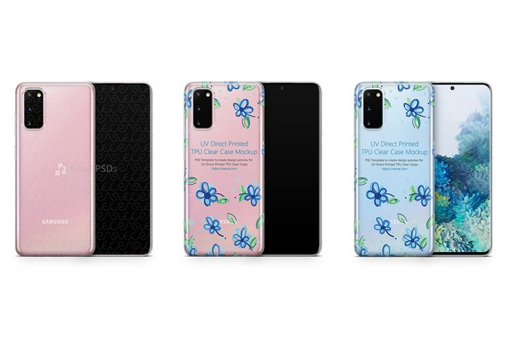 Galaxy S20 2020 TPU Clear Case Mockup
