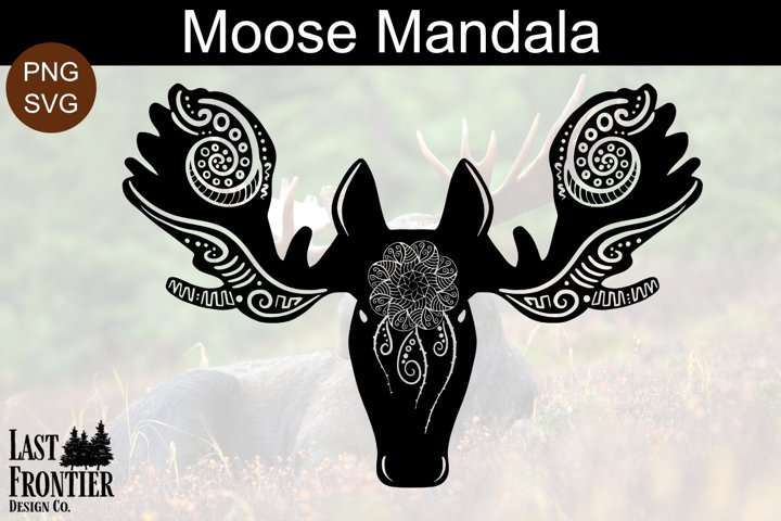 Moose Mandala SVG