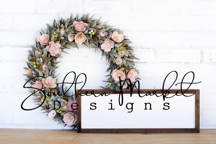 6x20 Spring Wood Sign Digital Mock Up Styled Pho
