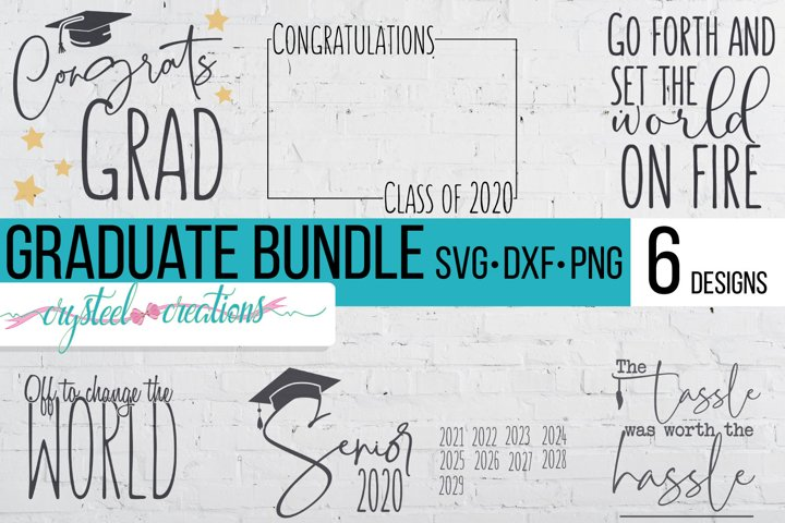 Graduation Bundle SVG, DXF, PNG 6 files