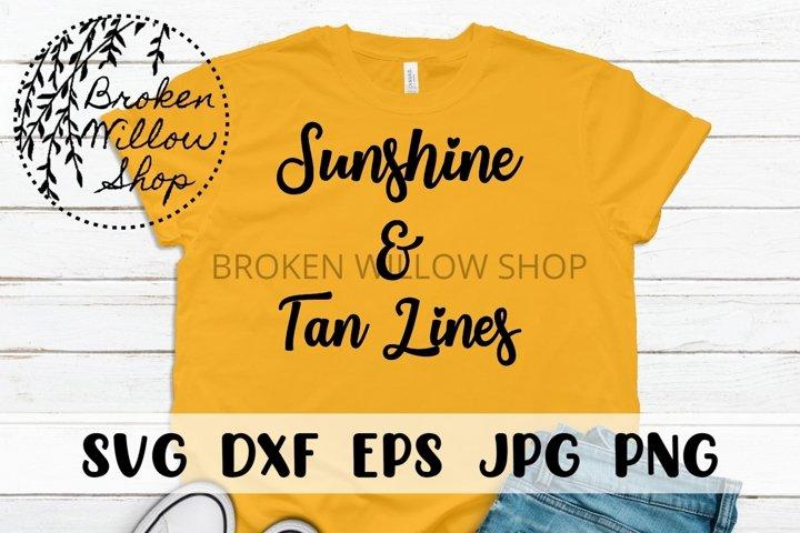 Sunshine and Tan Lines Summer SVG PNG EPS DXF JPG