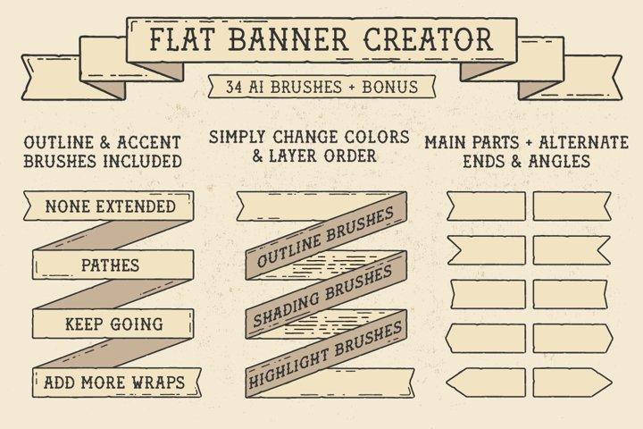 Flat Banner Creator for Illustrator