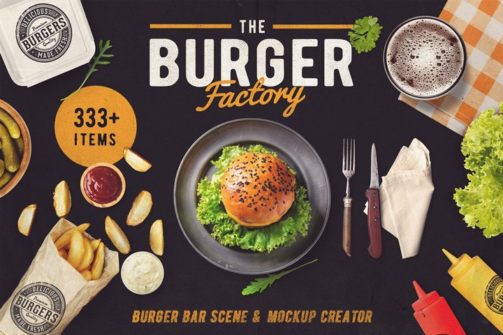 The Burger Bar - Scene and Mock-up Generator