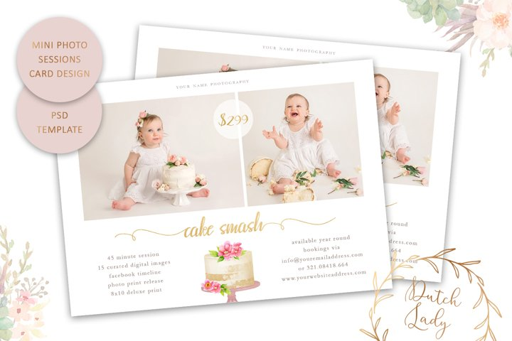 PSD Summer Photo Session Card Template - Design #64