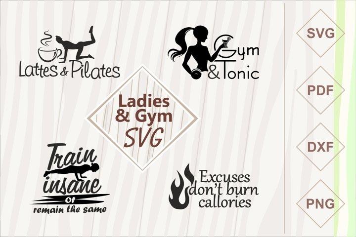 Ladies and gym SVG bundle