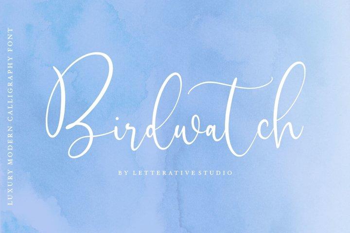 Birdwatch Luxury Modern Calligraphy Font