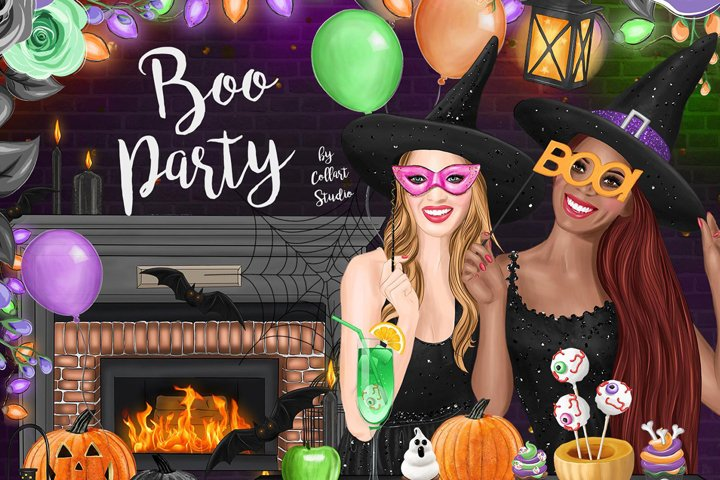 Halloween Clipart, Halloween Party, Fashion Clipart