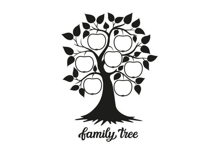 Family tree SVG cut file