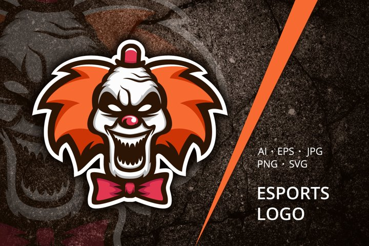 Clown Esports Logo Template