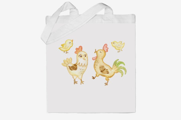 chickens and rooster cartoon