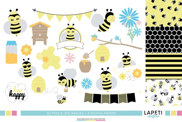 Bee clipart, honey bee clipart, bumble bee clipart