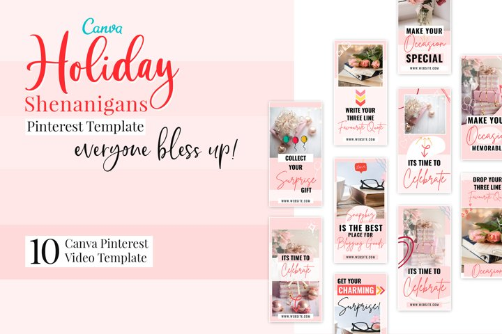 Holiday shenanigans Video Pinterest Template
