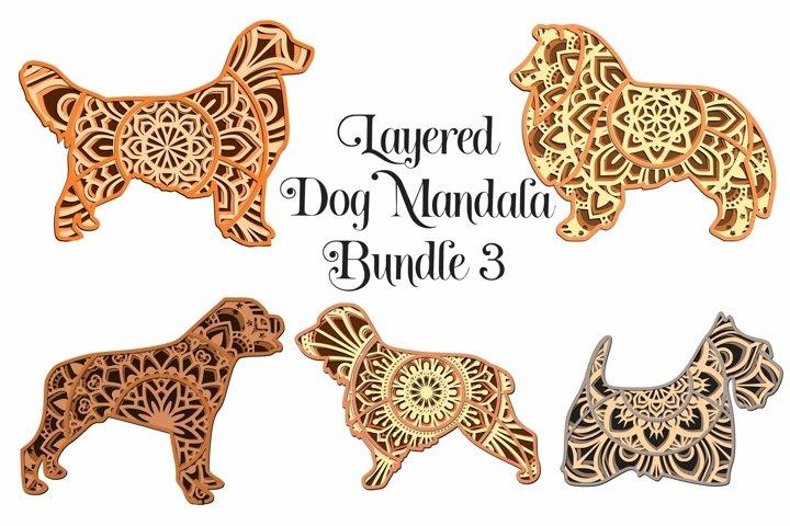 Mandala Dog SVG Bundle Volume 3- 3D Layered Mandalas