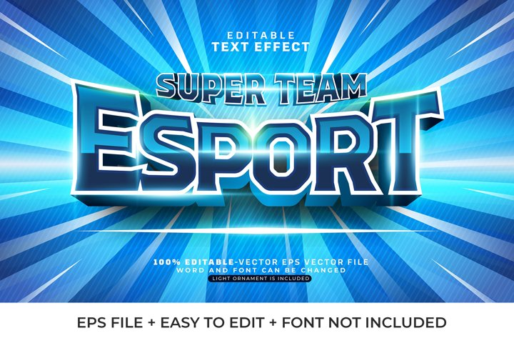 Esport Team Vector Text Effect