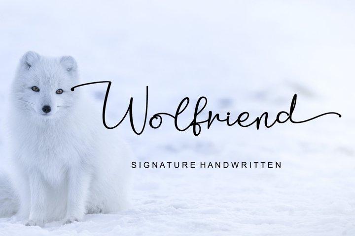Wolfriend - Signature Handwritten Font