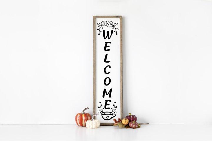 Welcome Porch Vertical Sign SVG files for Cricut, svg design