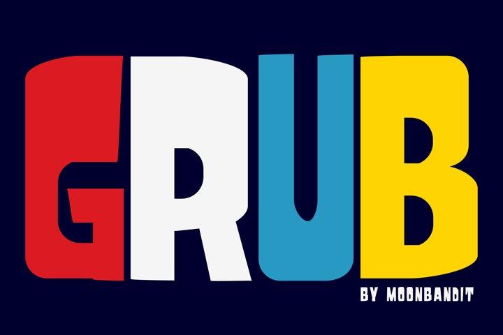 Grub - A playful bold typeface
